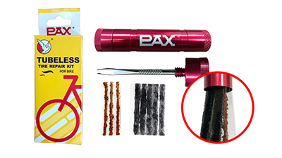 Bike Tools - Red Tubeless Tire Repair Kit